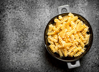 Pasta in a bowl.