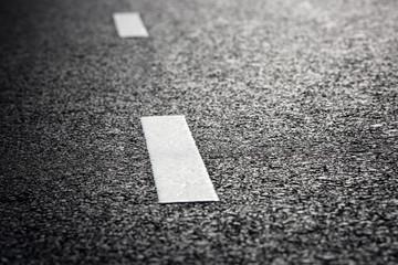 Wall Mural - black asphalt road and white dividing lines