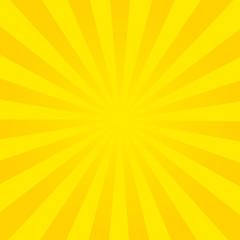 Sun rays, summer background orange colored, vector illustration