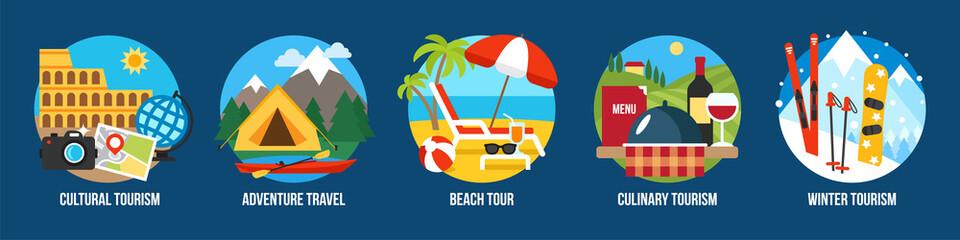 Tourism types Fototapete
