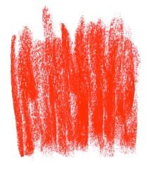 Unordentlich gemalte rote Fläche