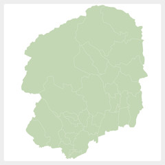栃木県の地図