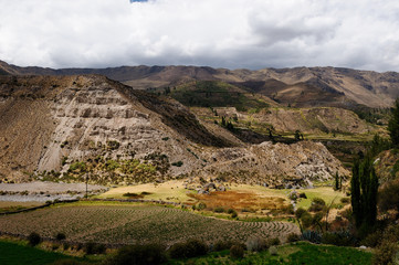 Peru Colca canyon. the secend wolds deepest canyon at 3191m. View on the canyon from the route to the geyser near Pinchollo village