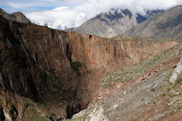 Peru Cotahuasi canyon The wolds deepest canyon. The canyon also shelters several remote traditional rural settlements