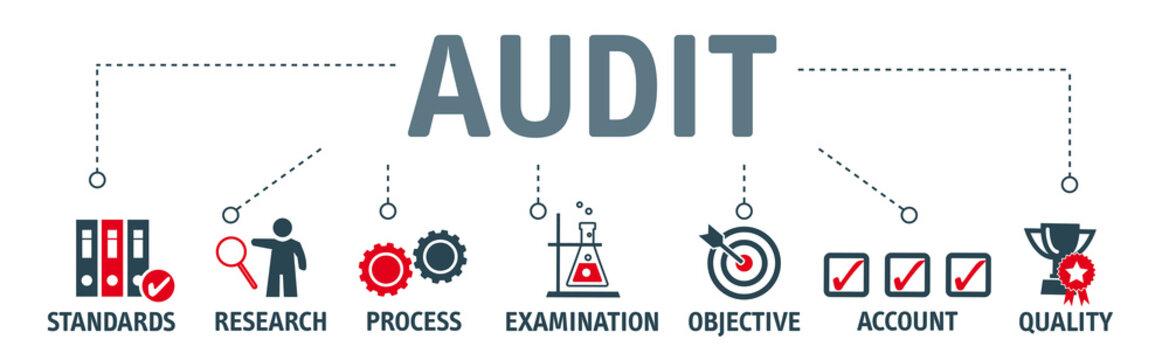 Banner Audit concept vector illustration