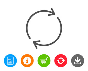 Refresh line icon. Rotation arrow sign.
