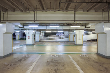 Interior view of Underground car parking lot