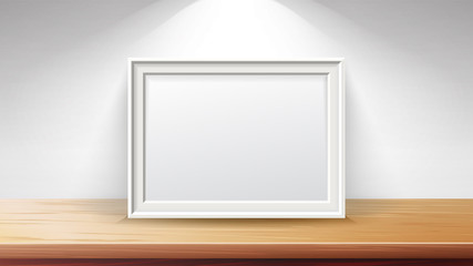 Rectangular Frame Background Concept Vector. Good For Display Your Projects. Blank For Exhibit. High Quality Design Element Illustration.