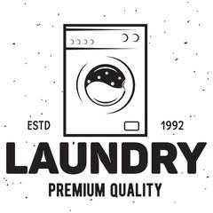 Vector laundry logo emblem, design element. logotype template and badge.