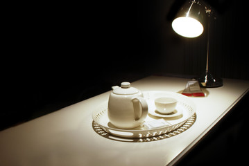 White Ceramic Coffee Pot