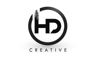 HD Brush Letter Logo Design. Creative Brushed Letters Icon Logo.