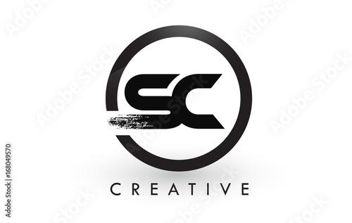 Sc Brush Letter Logo Design Creative Brushed Letters Icon
