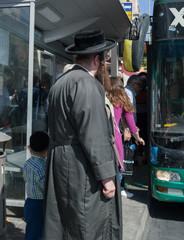 Bus on the street of Jerusalem.