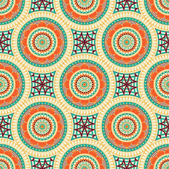 Poster Boho Stijl Seamless repeating abstract pattern