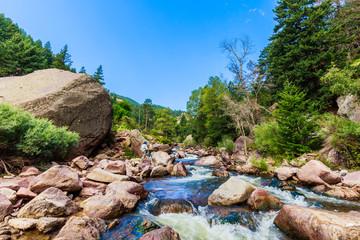 Mountain river stream at Eldorado Canyon State Park.