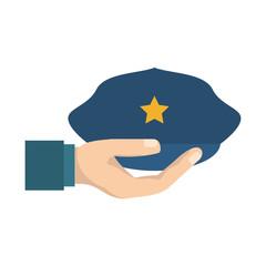Police hat cartoon
