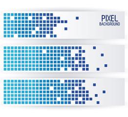 blue pixel background in horizontal strips design vector illustration