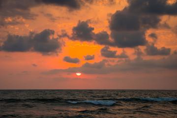 Sunset. Beautiful sunset Black sea. Gold sea sunset. Sunset sea waves. Summer sunset