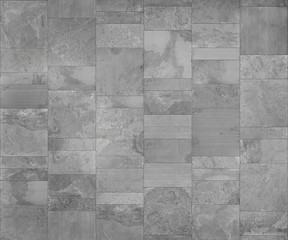 Slate tile ceramic, seamless texture light gray map for 3d graphics