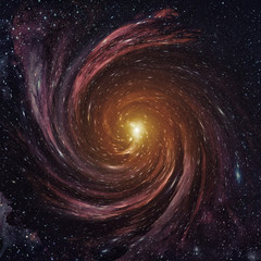 Black hole in space. Elements of this image furnished by NASA.
