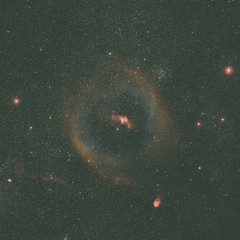 Wide-field image of the Bubble Nebula. Ground-based image. Elements of this image furnished by NASA.