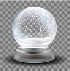 Snowball. Gift. Snowfall. Winter. Souvenir. For your design.