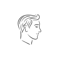 human head sketch outline