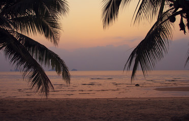 Sunset on the beach, Samui island, Thailand