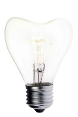 luminescent heart shape incandescent electric lamp