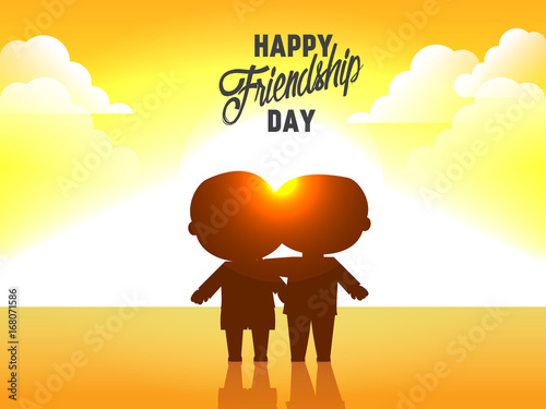 nice and beautiful abstract for Happy Friendship Day with nice and creative design illustration in background.