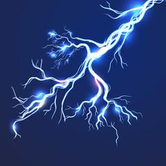 electric effect lightning bolt background