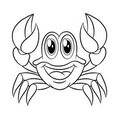 Crab coloring book.