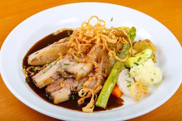 Czech cuisine - roasted pork