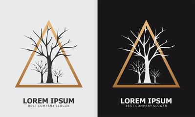 tree logo vintage forest design