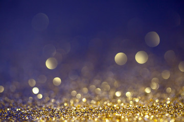 Abstract gold color bokeh background