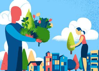 Aumentiamo le aree verdi in città