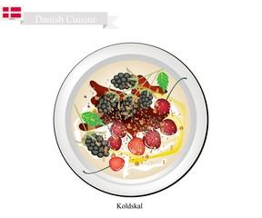 Koldskal or Fridge Buttermilk, A Popular Dessert in Denmark