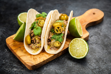 Fotoväggar - Mexican tacos with beef