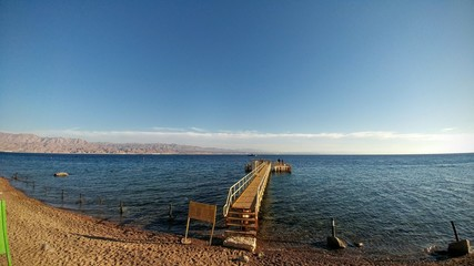 Landscapes of the city of Eilat, Israel