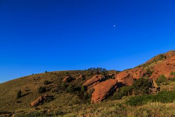 Romantic rock formations at Red Rocks Park, Colorado,