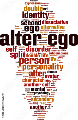 Alter ego word cloud