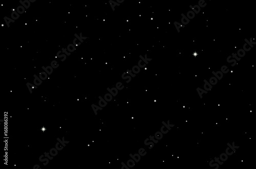 Space Starry Sky Background  Vector Illustration of Night