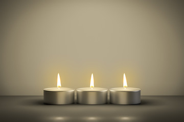 typical tealights with space for your content