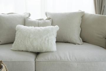 Modern Cushion On Sofa