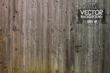 Vector natural Dark Wooden Background. Wood texture copy space for text or image.
