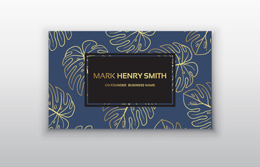 Vector business card. Luxury business card design.