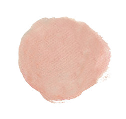 Light Pink watercolor circle isolated on white background, Hand paint texture