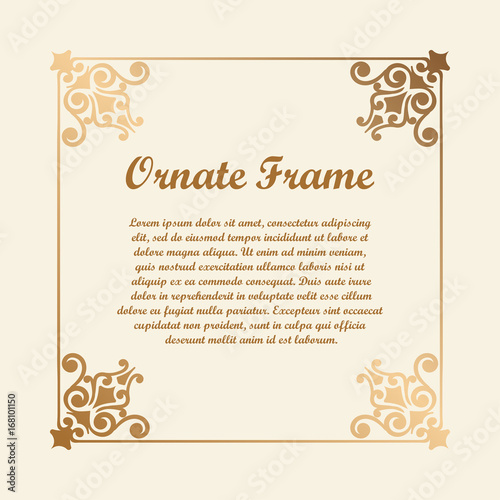 vector decorative element for design frame template with place for