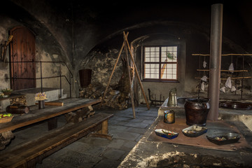 Old medieval cuisine.