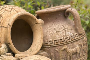 Fototapeta Antique amphora in the garden obraz